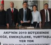 """""""AKP'nin 2019 bütçesinde, emeğe ve emekçilere yer yok"""""""