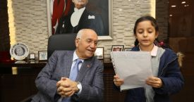 Başkan Yaşar, İlkokul öğrencilerini makamında ağırladı