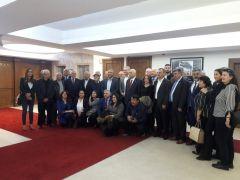Çorum Hitit Dernekleri Federasyonundan Fethi Yaşar'a hayırlı olsun ziyareti