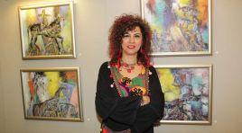 Ressam Meliha Yılmaz'ın Sergisinde Türk Tarihi İzleri