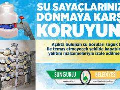 SUNGURLU BELEDİYESİ SU ABONELERİNİ UYARIYOR!