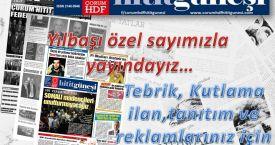 Hitit güneşi gazetesi yılbaşı özel sayısı ile pek yakında yayında!