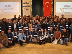 AFAD Depreme ve Dogal afetlere karşı egitimlere devam ediyor.